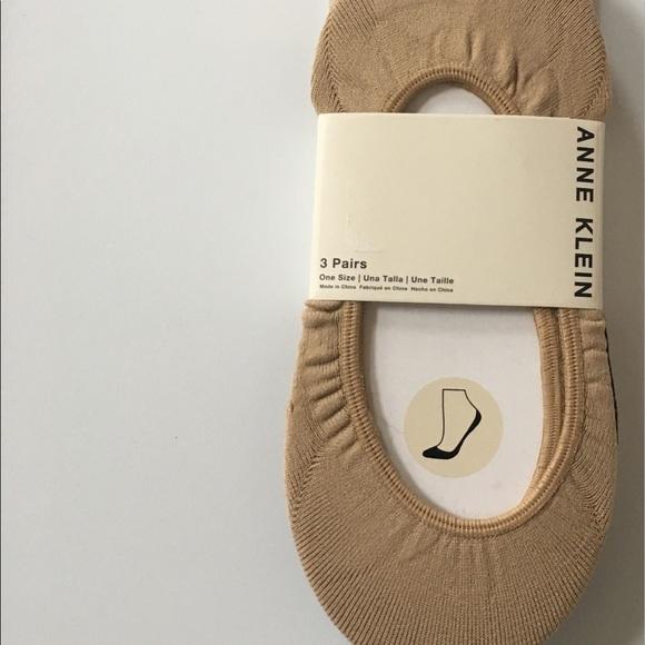 3pk Nylon Liner Planet Socks Anne Klein